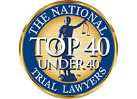 National Trial Lawyers Association Top 40 under 40 badge